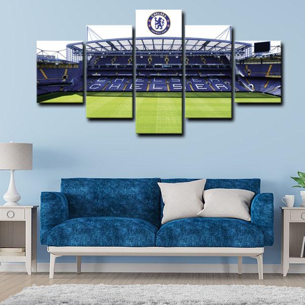Chelsea F.C. Stadium Wall Art Canvas 4