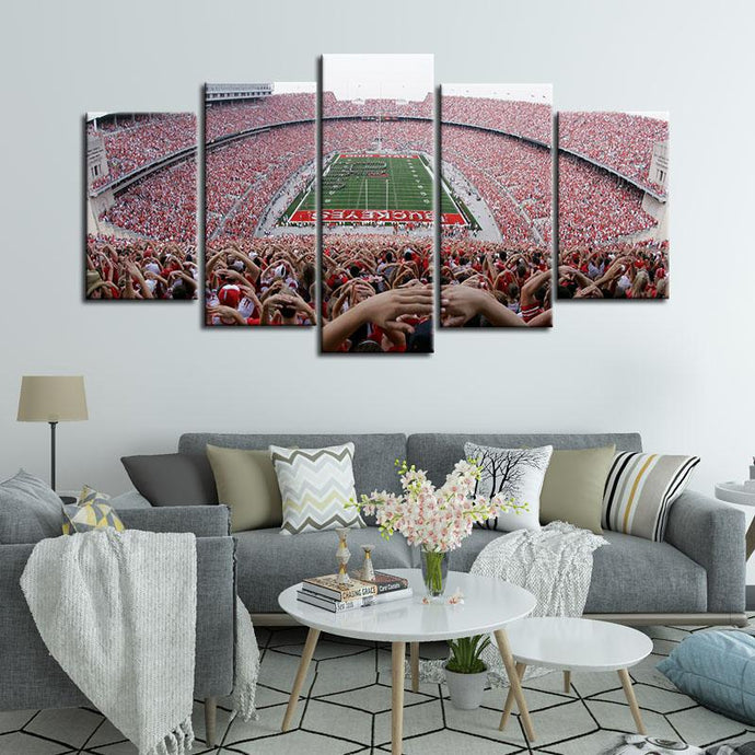 Ohio State Buckeyes Stadium Canvas 7