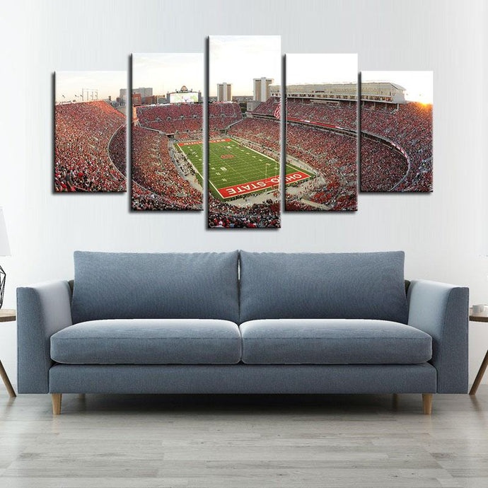 Ohio State Buckeyes Stadium Canvas 8