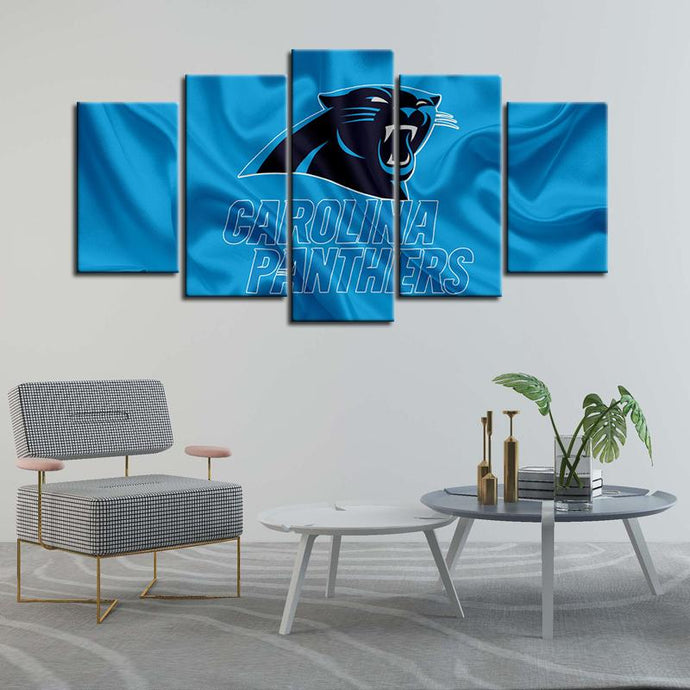 Carolina Panthers Fabric Look Canvas
