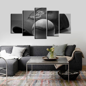 Boston Red Sox Cap Ball 5 Pieces Wall Painting Canvas