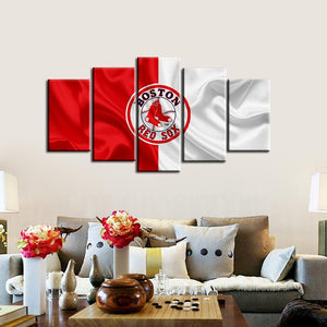 Boston Red Sox Fabric Flag Canvas