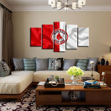 Load image into Gallery viewer, Boston Red Sox Fabric Flag 5 Pieces Wall Painting Canvas