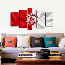 Load image into Gallery viewer, Boston Red Sox Fabric Flag Canvas