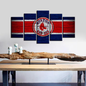 Boston Red Sox Wooden Look Canvas