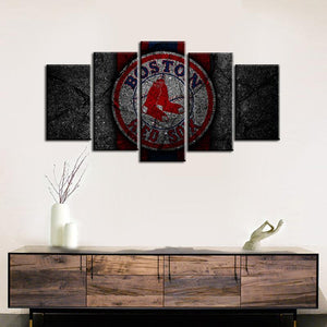 Boston Red Sox Rock Style Canvas