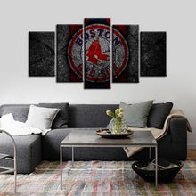 Load image into Gallery viewer, Boston Red Sox Rock Style 5 Pieces Wall Painting Canvas