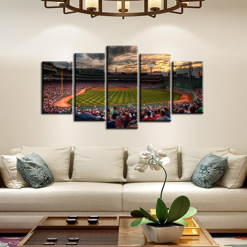 Boston Red Sox Stadium 5 Pieces Wall Painting Canvas