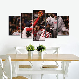 Boston Red Sox Victory Moments Canvas