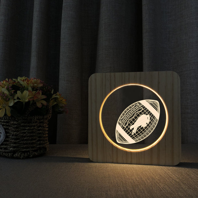 Buffalo Bills 3D Wooden LED Lamp