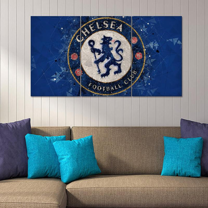 Chelsea F.C. Geometric Art Wall Canvas 1