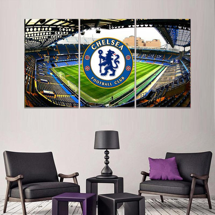 Chelsea F.C. Stadium Wall Art Canvas 3