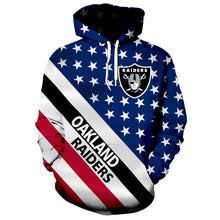 Load image into Gallery viewer, American Flag Las Vegas Raiders 3D Hoodie