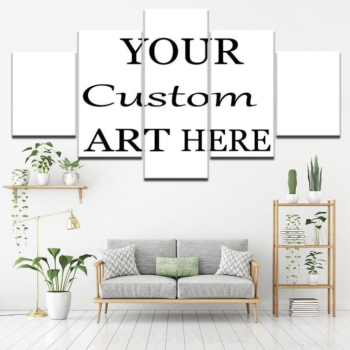 5 Pieces Customized Paintings Canvas