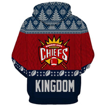 Load image into Gallery viewer, Kansas City Chiefs 3d Hoodie Christmas Edition