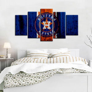 Houston Astros Rough Look Canvas