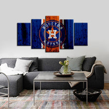 Load image into Gallery viewer, Houston Astros Rough Look 5 Pieces Wall Painting Canvas