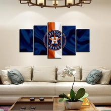 Load image into Gallery viewer, Houston Astros Fabric Flag Style Canvas