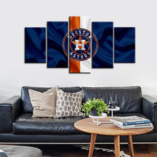 Load image into Gallery viewer, Houston Astros Fabric Flag Style 5 Pieces Wall Painting Canvas