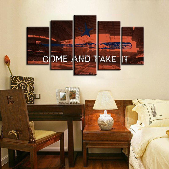 Houston Astros Come and Take It 5 Pieces Wall Painting Canvas