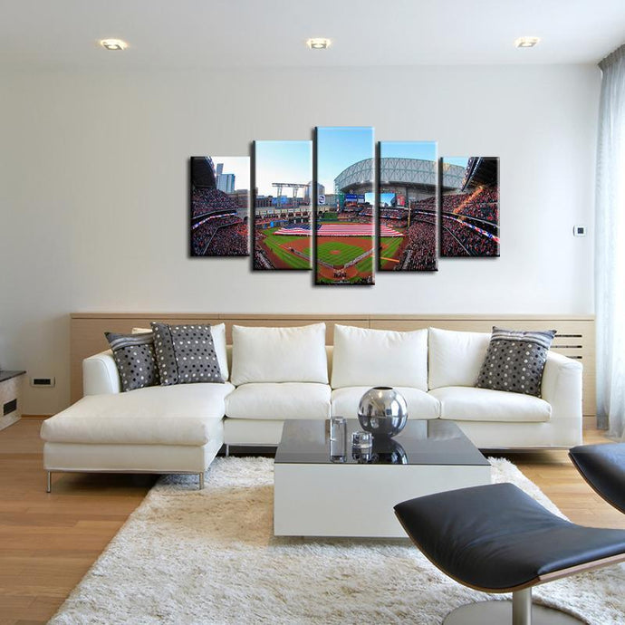 Houston Astros Stadium 5 Pieces Wall Painting Canvas