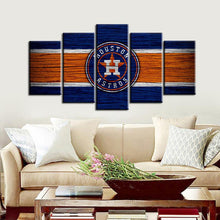 Load image into Gallery viewer, Houston Astros Wooden Style Canvas