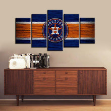 Load image into Gallery viewer, Houston Astros Wooden 5 Pieces Wall Painting Canvas