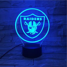 Load image into Gallery viewer, Las Vegas Raiders 3D Illusion LED Lamp