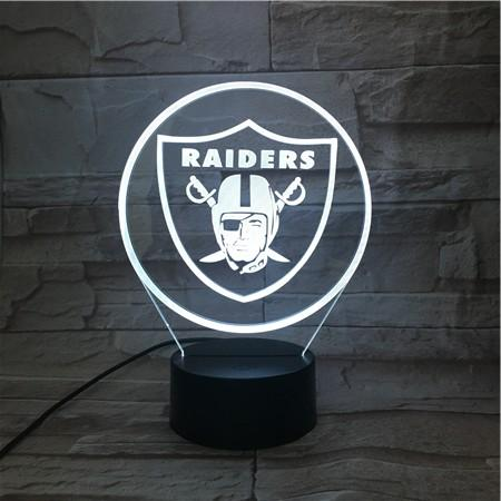 Las Vegas Raiders 3D Illusion LED Lamp