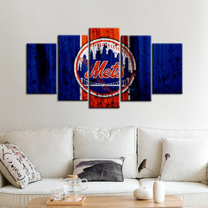 New York Mets Rough Style Canvas