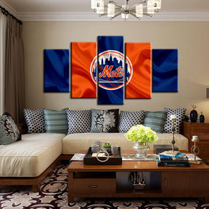 New York Mets Fabric Flag Canvas