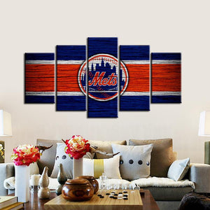 New York Mets Wooden Look Canvas