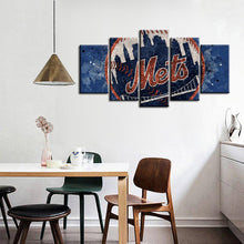Load image into Gallery viewer, New York Mets Techy Style Canvas