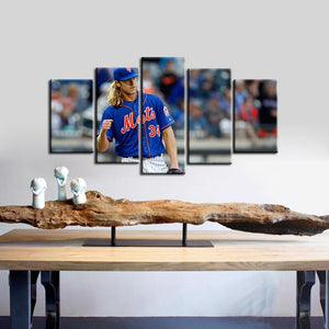 Noah Syndergaard New York Mets 5 Pieces Wall Painting Canvas