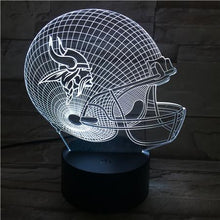Load image into Gallery viewer, Minnesota Vikings 3D Illusion LED Lamp