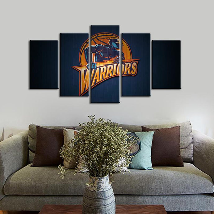 Golden State Warriors 5 Pieces Wall Painting Canvas