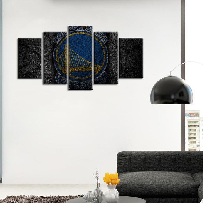 Golden State Warriors Rock Style 5 Pieces Wall Painting Canvas
