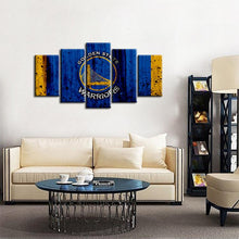 Load image into Gallery viewer, Golden State Warriors Rough Look 5 Pieces Wall Painting Canvas
