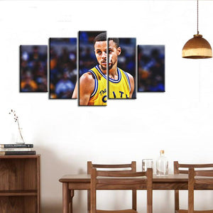 Stephen Curry Golden State Warriors 5 Pieces Wall Painting Canvas