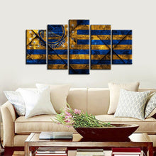 Load image into Gallery viewer, Golden State Warriors Oldish Style 5 Pieces Wall Painting Canvas