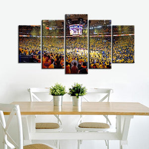 Golden State Warriors Stadium 5 Pieces Wall Painting Canvas