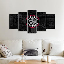 Load image into Gallery viewer, Toronto Raptors Modern Writing Look 5 Pieces Painting Canvas