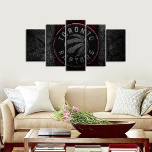 Toronto Raptors Rock Style 5 Pieces Painting Canvas