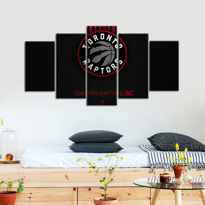 Toronto Raptors Leather Look 5 Pieces Painting Canvas