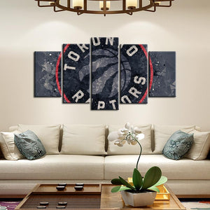 Toronto Raptors Techy Style 5 Pieces Painting Canvas