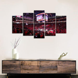 Toronto Raptors Stadium 5 Pieces Painting Canvas
