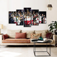Load image into Gallery viewer, Toronto Raptors Winning Moment 5 Pieces Painting Canvas