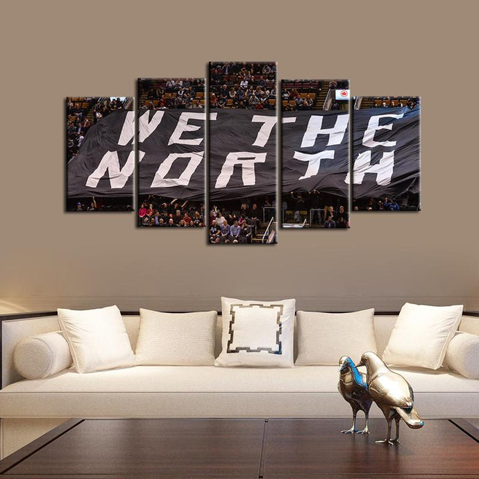 Toronto Raptors We Are North 5 Pieces Painting Canvas