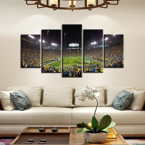 Green Bay Packers Stadium 5 Pieces Painting Canvas