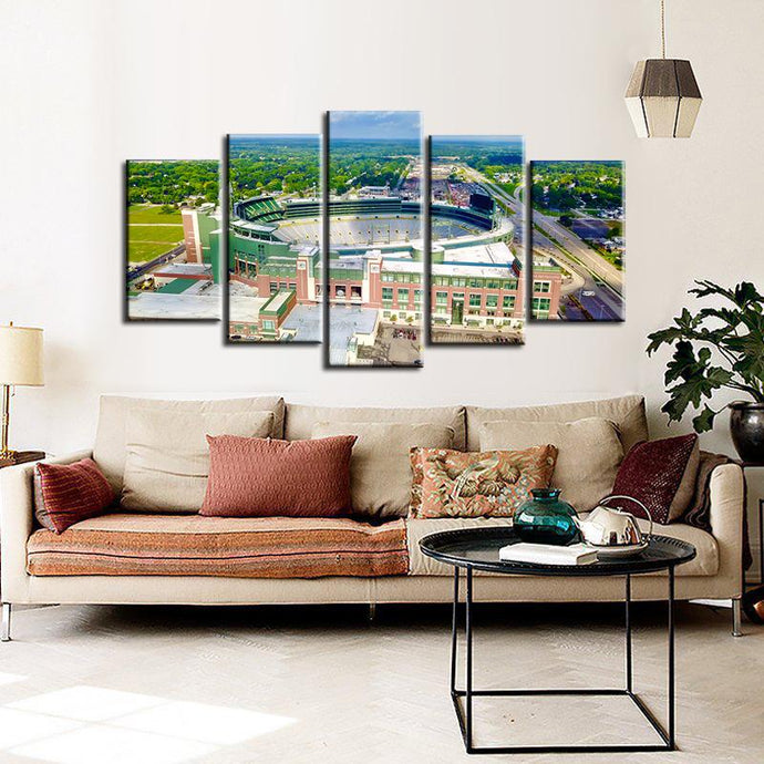 Green Bay Packers Stadium Canvas 4